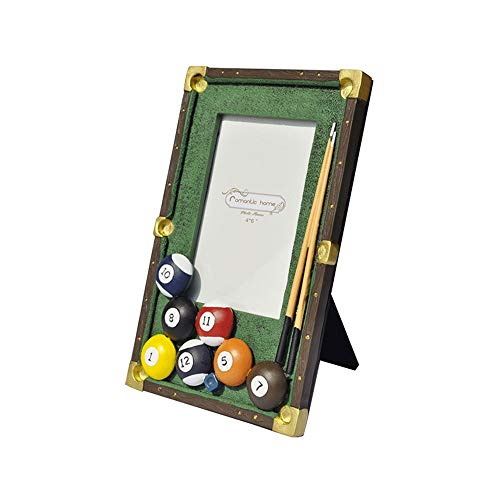 LifeX 4 x 6 Zoll europäischen Bild Show Frames kreative Billard Deco Harz Bilderrahmen High Definition Glas, Tisch-Display für niedliche Klassenkameraden Geschenk, Familie, Baby, Freund (Bilderrahmen Billard)