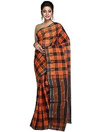 Hawai Fashionable Checkered Cotton Tant Saree