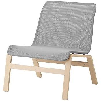Ikea NOLMYRA Sessel in Grau; aus Birkenfunier: Amazon.de ...
