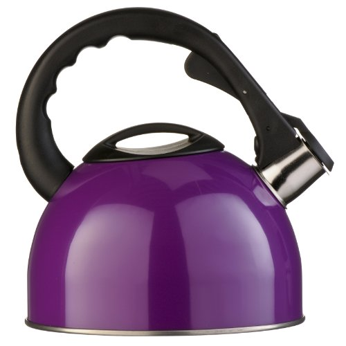 Premier Housewares 0505119 Bollitore a Fischio, in Acciaio Inox, 2.5 lt, Viola