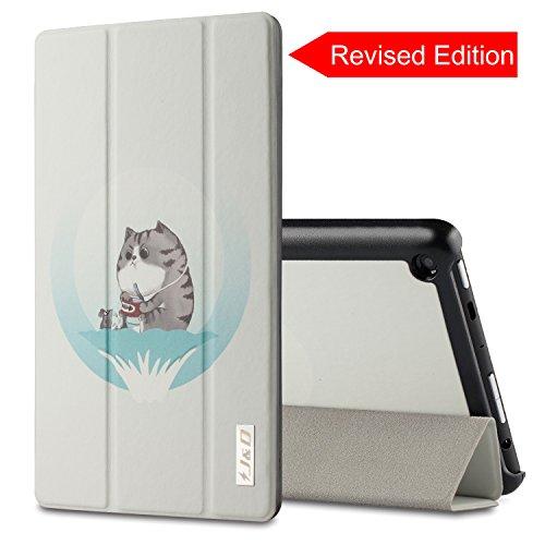 J&D All-New Fire HD 8 Tablet-Schutzhülle, All-New Fire HD 8, Katze -