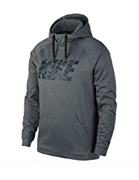 Nike Men's Therma Training Hoodie, Color CARBON HEATHER, Talla M