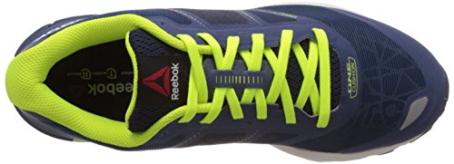 Reebok One Cushion 2.0 City Lights, Chaussures de course homme Bleu - Blau (Faux Indigo/Silver Met/Slr Yellow/Batik Blue)