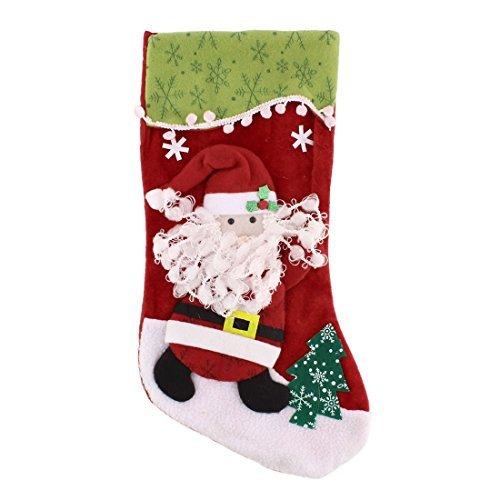 DealMux coton mélange les chaussettes à forme de jour de Noël de la chaussette Gift Pack Holder Multicolor