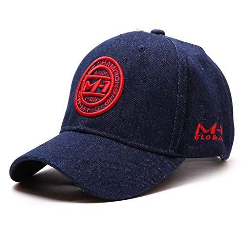 änner Baumwolle bestickte Blume Denim Cap Fashion Baseball Cap Topee ()