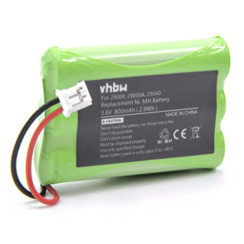 vhbw NiMH Batteria 800mAh (3.6V) per Baby Phone, Baby Monitor Summer Infant 29000, 29000A, 29030, 29040