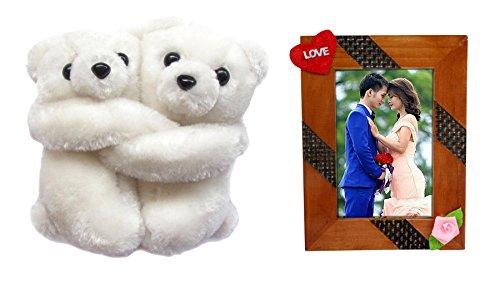 Tickles Hugging Teddy Pair Stuffed Soft Plush Toy for Kids 11 cm Set