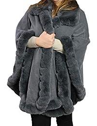 timeless design ea735 7c8c9 Amazon.it: pelliccia ecologica - Grigio / Donna: Abbigliamento