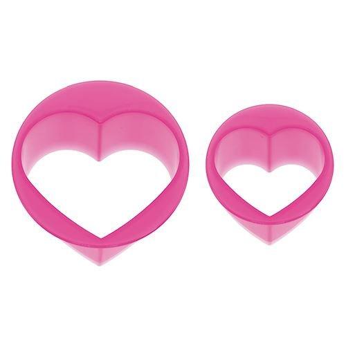 Skater (SKATER) emporte-pièces Kawaii en Plastique Roses à Paillettes en Forme de Coeurs, pour découper du Pain, du Fromage ou des saucisses en des Formes rigolotes