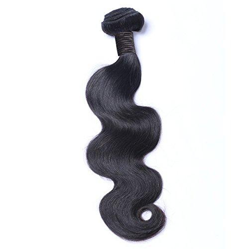ohlees® 6 A 1pcs Bundle 100g brésilien cheveux brésiliens Virgin Hair Body Wave 1 bon marché tissage brésilien Body Wave 100% cheveux humains # 1B Vierge Human Hair 16\\