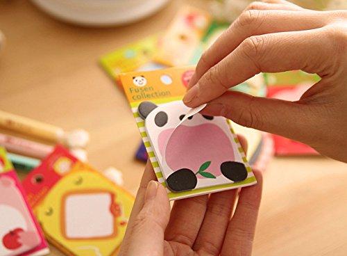 Geschenk-UK® Niedliche Tiere Elefanten Chick Frosch Katze Kätzchen Schildkröte Novelty Sticky Notes Sticky Note Pad Index Lesezeichen zuPage Marker * Sportschuhe Giant Panda