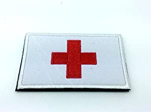 Croix-Rouge Medic Brodé Airsoft Patch