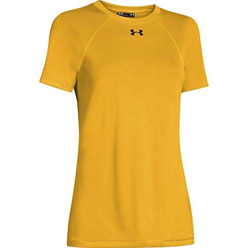 Under Armour Locker leggero a maniche corte maglietta della donna Steeltown Gold/Black