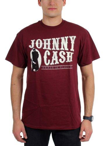 Johnny Cash  Herren T-Shirt Maroon