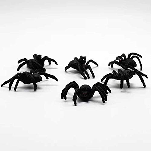 thematys Spinnen 20 Stück als perfekte & gruselige Halloween Deko - erschreckend echt und realistisch für schockende Momente