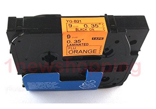 Compatibile per Brother P-Touch TZe TZ Black on Fluorescent Orange Label tape 6mm 9mm 12mm 18mm 24mm 36mm all size TZe-B21 9mm Black/Orange