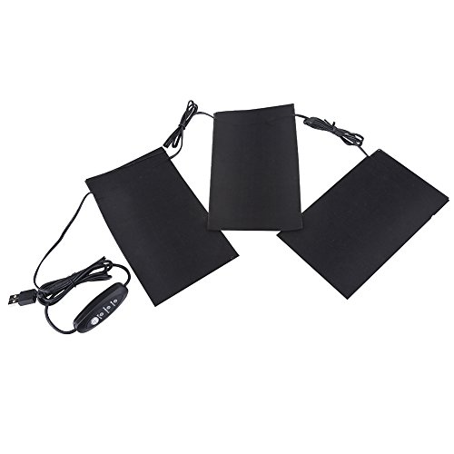 Tbest Calore Elettrico Hads per Sollievo dal Dolore, 5V 2A 8.5W USB Elettrico Vestiti riscaldati Riscaldatori riscaldati Set per Esterni Campeggio Invernale Notte Bassa Temperatura Leggero