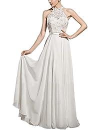 Vestido Halter Mujer Elegante Vestidos de Fiesta para Bodas Largos Vestidos de Noche