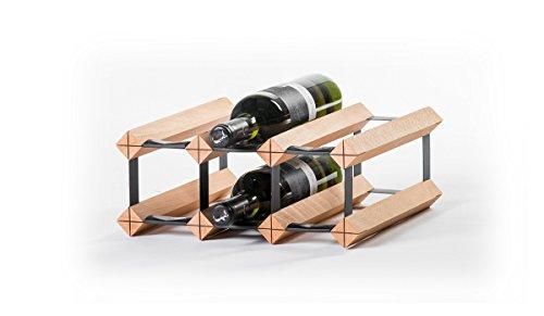 RAXI Classic Premium Weinregal aus Holz mit luxuriösem Design, Flaschenregal für 6 Wein Flaschen 32,5x13,5x30 cm