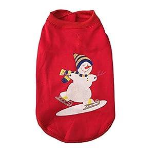 Handfly Sweats à Capuche pour Chien Costume de Père Noël pour Chat Costumes de Renne de Noël Costumes de Chat de Chien de Noël Manteau pour Chien Manteau de Chien de Noël Chandails de Chat