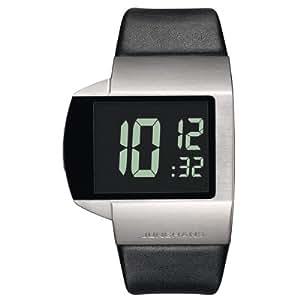 Junghans Herren-Armbanduhr Mega Futura Digital Quarz Leder 026/4102.00