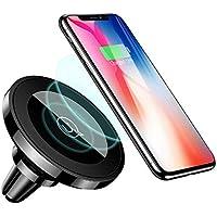 Support de Téléphone Voiture Portable Auto Inductif,Chargeur sans Fil Aimant Fort iPhone XS Max XR X/8/8 Plus/Samsung Galaxy S9/S9+/S8/S8 Plus/S7/S7 Edge/Note 8 5 Tout Qi-Enabled Téléphone