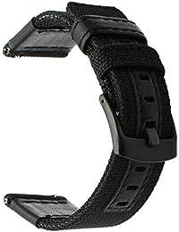 Galaxy Watch 46 mm/Gear S3 Armband, TRUMiRR 22mm Woven Nylon Uhrenarmband Lederarmband