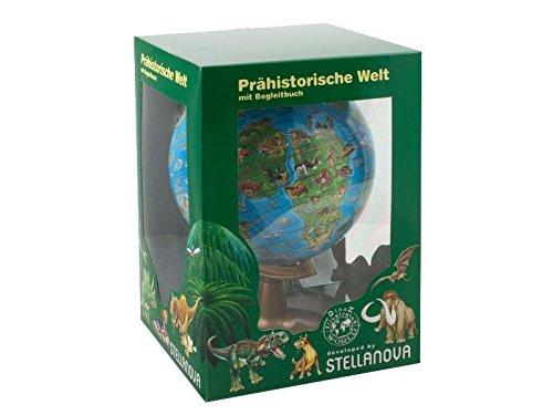 15 cm Illustrierter Globus der prähistorischen Welt: Illustrierter Globus der prähistorischen Welt, mit Begleitbuch