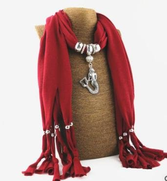 New Mermaid Pendant Fashion Necklace scarf Women's scarves in autumn and winter Jewelry scarf