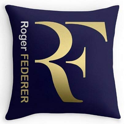 8888CASE Luxury Federer Roger Tennis Comfort Soft Cool Covers Suitbale Pillowcase Cover Copricuscini e federe (55cmx55cm)