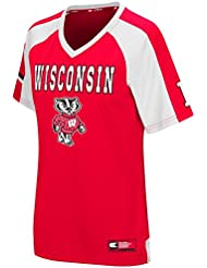 """Wisconsin Badgers Women's NCAA """"Torch"""" Fashion Football Jersey Maillot"""