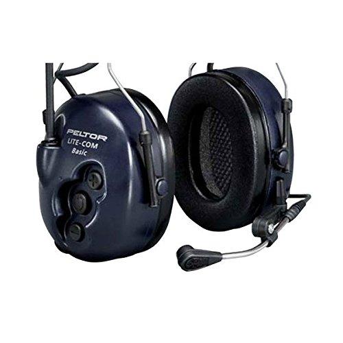 3 M Peltor liteCom stereofonico passanuca Noir, Bleu, Blanc écouteurs