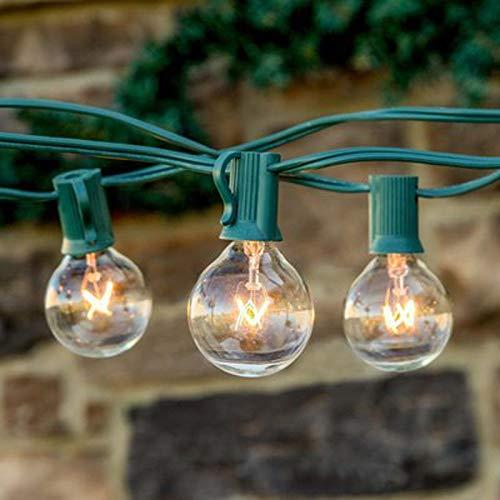 Outdoor Lichterkette G40 Lichterketten 10Ft 25Ft Clear Globen Vintage Lampen Licht Indoor Outdoor Wasserdichte Garten Terrasse Hochzeit Girlande String Lampe