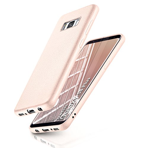ONEFLOW Samsung Galaxy S8 Plus | Hülle Silikon Rosé-Pink in Leder Optik Flex Back-Cover Schutzhülle Etui Handy-Hülle für Samsung Galaxy S8+ Plus Case Ultra-Slim Silikonhülle Tasche
