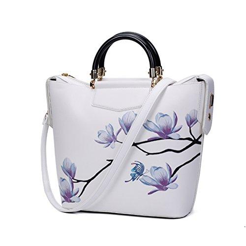 Stile cinese pittura Magnolia/Borsa grande/Peonia stampa moda borsa-F F