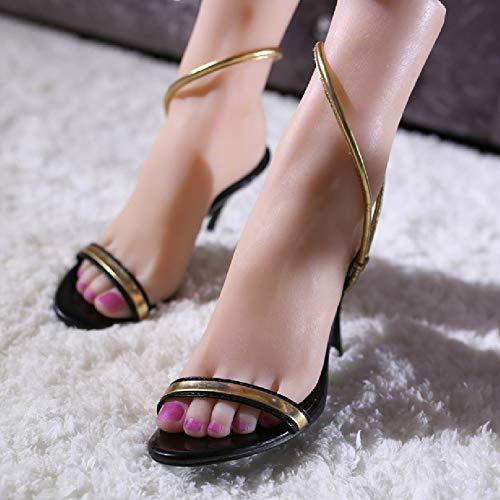 HEXEK Silikon Weibliche Füße Schaufensterpuppe Fuß Modell Socken Schuhe Zehenringe Shop Einzelhandel Display (EIN Paar)