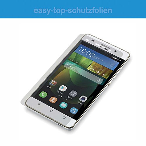 HTC One A9s - 3x easy-top kristallklare Anti-Shock Bildschirmschutzfolie - crystal clear Bildschirm Schutz Folie Schutzfolie