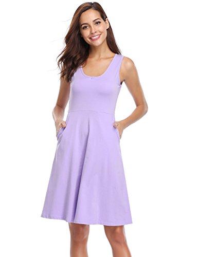 ᑕ ᑐ Kleid Lila Damen Kleider