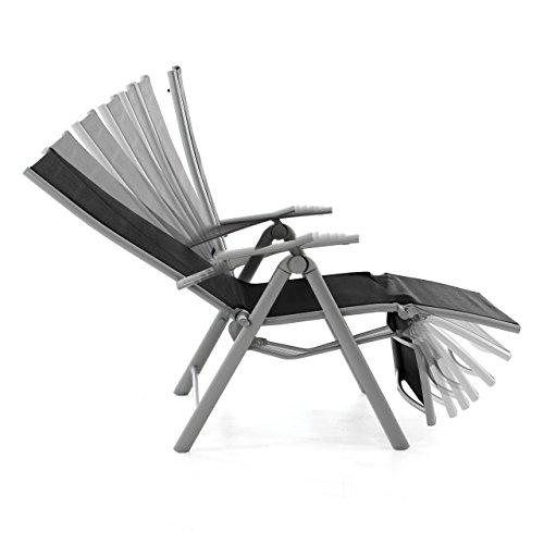 Nexos ZGC34464 Stuhl Liegestuhl Klappstuhl mit Fußstütze