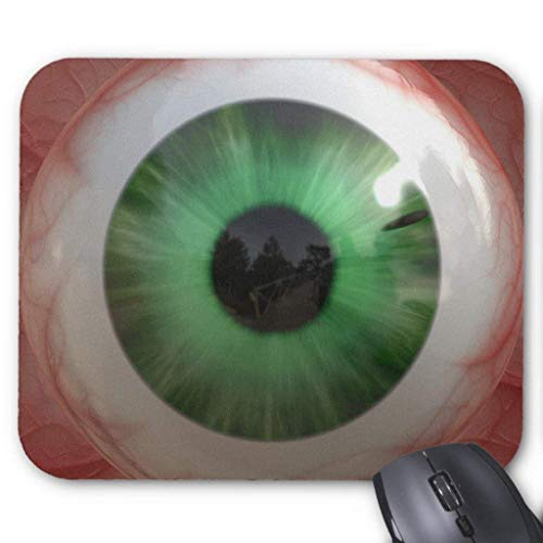 Computer Accessories Anti-Friction Wristband Fun Creepy Green Eye-Ball - Weird,Tasteless Gift Mouse Pad 18X22