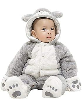 DorkasDE Baby Strampler Schneeanzug Junge Mädchen Overall Cartoon Jumpsuit Winter Babykleidung mit Kapuze