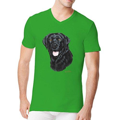 Im-Shirt - Hunde T-Shirt: Labrador Retriever cooles Fun Men V-Neck - verschiedene Farben Kelly Green
