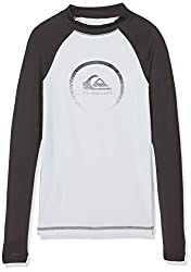 Quiksilver Herren Active Long Sleeve Lycra, Herren, Active Long Sleeve, Snow Whiteblack, Mediumsize 12