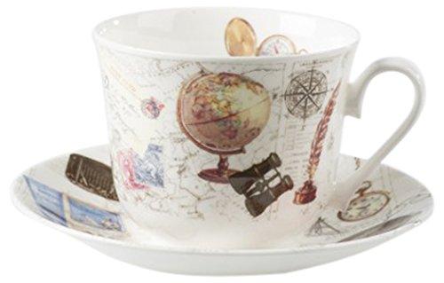 Roy Kirkham XPAST1100 17,1 x 17,1 x 8 cm, Freizeit Chatsworth Frühstückstasse mit Untertasse Bone China Cup 8