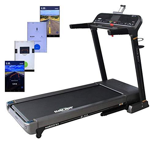 Maxxus Tapis roulant Professionale RunMaxx 6.3 - Macchina Fitness in qualità da Studio per l'allenamento Cardio a casa - Tapis roulant salvaspazio, Pieghevole con Controllo Bluetooth Via Smartphone