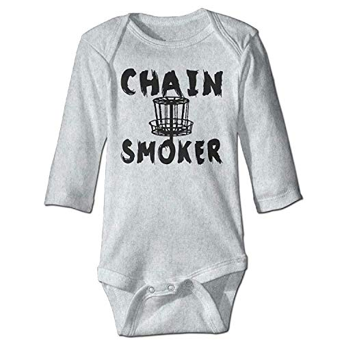 MSGDF Unisex Toddler Bodysuits Chain Smoker Girls Babysuit Long Sleeve Jumpsuit Sunsuit Outfit Ash