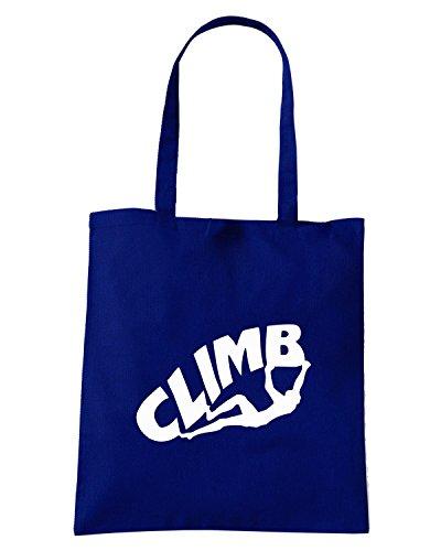 T-Shirtshock - Borsa Shopping OLDENG00316 climb Blu Navy
