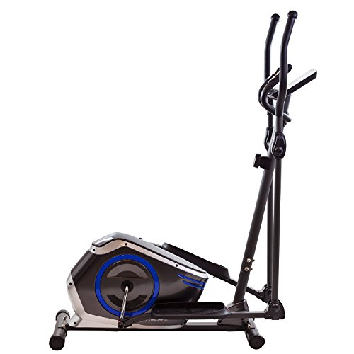 TechFit E410 Cross Trainer, Elliptical Bike Home, Weight Loss Machine Cardio Fitness Exercises, Magnetic Resistance Device Fit Indoor Spaces