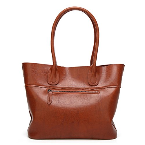 Bag Salon-UK, Borsa a tracolla donna, Red (rosso) - L302 Brown