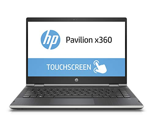 HP Pavilion x360 14-cd0602ng 35,56 cm (14 Zoll HD Touchdisplay) Notebook (Intel Pentium Gold 4415U, 8GB RAM, 256GB SSD, Intel UHD Graphics 610, Windows 10 Home 64) silber/schwarz